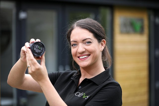 Sian Louise has launched her skincare business, Obvs, from her home in Warsash where she is pictured. Her formulations are organic, ethically-sourced, cruelty-free and Vegan approvedPicture: Chris Moorhouse (jpns 100621-20)