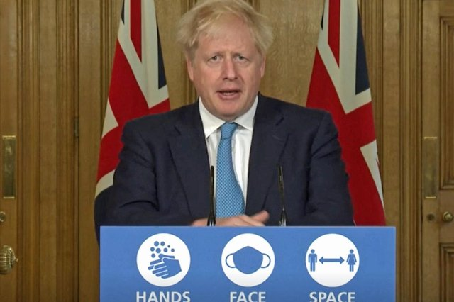 Prime minister Boris Johnson during a media briefing in Downing Street, London, on coronavirus on Friday, October 16. Picture: PA Video/PA Wire