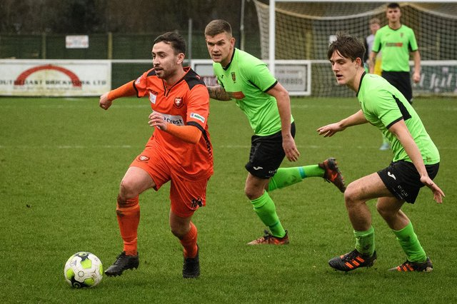 AFC Portchester were without Alex Baldacchino at Salisbury. Picture: Keith Woodland (281219-105)