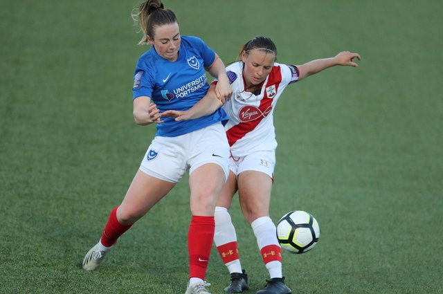 Ava Rowbotham scored the winning penalty for Pompey Women in the shoot-out. Picture: Dave Haines