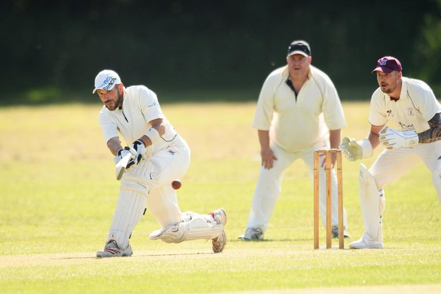 Portsmouth 3rds batsman Tom Jones in action against Portchester. Picture: Keith Woodland