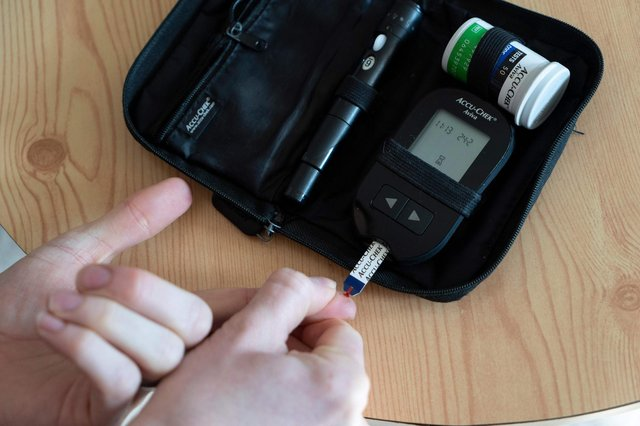 A device to measure blood sugar levels prior to administering insulin. Picture: NIKLAS HALLE'N/AFP via Getty Images
