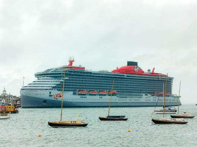 Scarlet Lady arriving in Portsmouth taken by Ben Dollery