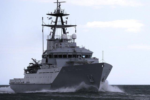 HMS Tyne, an offshore patrol vessel, was dispatched earlier this year to safeguard UK fishing waters.