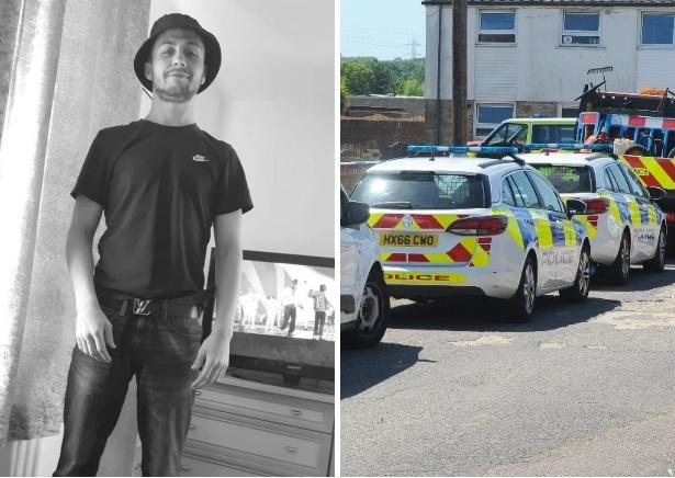 George Allison was killed in an attack in Tichborne Crescent (right). Pictures: Hampshire Constabulary/Sarah Standing