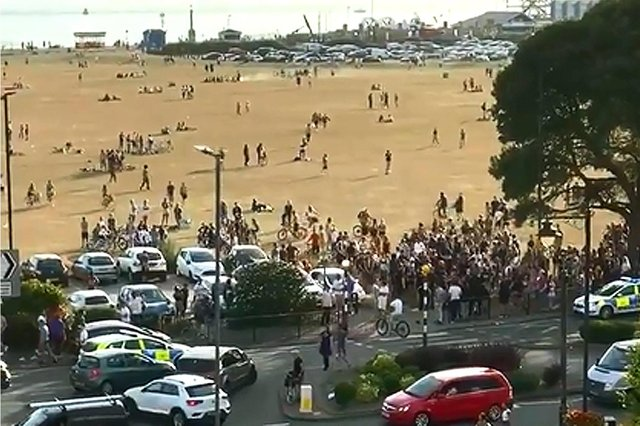 Police attended a disturbance on Southsea Common on June 23 in 2020. Picture: Gethin Jones