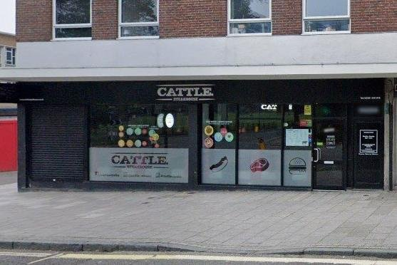 Cattle Steakhouse at Hanover Buildings, Southampton, which has lost its licence after breaching Covid regulations Picture: Google
