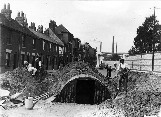Air raid shelters were built in many Portsmouth streets