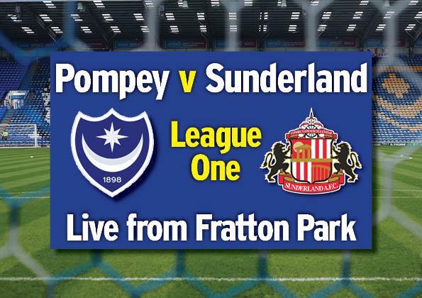 Portsmouth v Sunderland live from Fratton Park