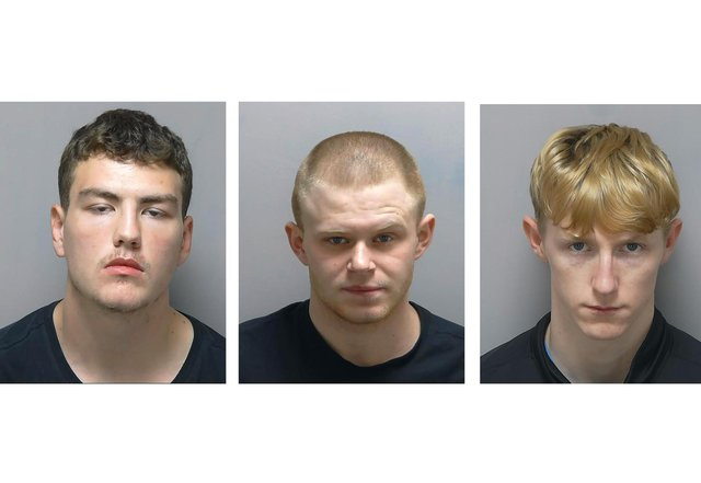 Luke MacDonald (left) was jailed for 54 months, Rhys Conner for 46 months and Harlie Frampton (right) got 40 months for their part in conspiracy to burgle across Portsmouth