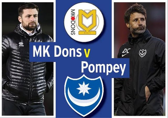 Pompey head to MK Dons today in League One