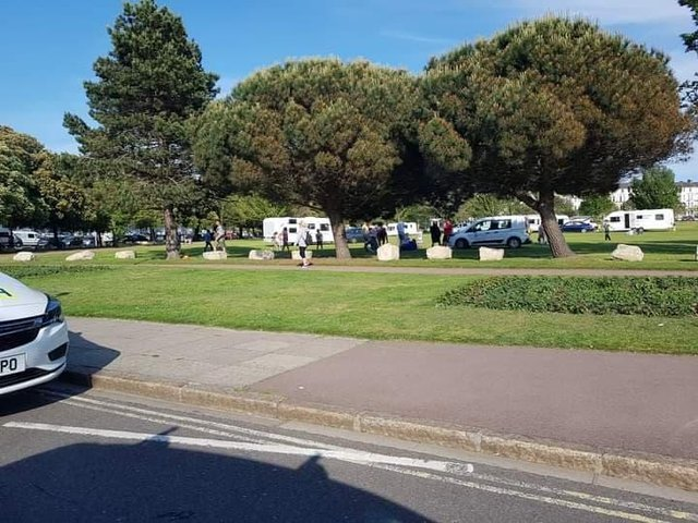 Travellers pitching up at Southsea Common on June 11. Picture: David Bailey
