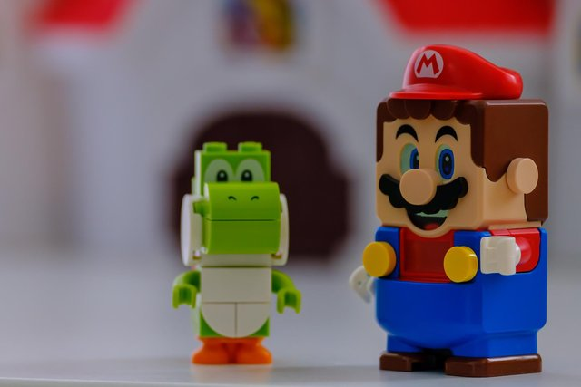 Mario and Yoshi toy figures from the Lego Super Mario series. Picture by Shutterstock