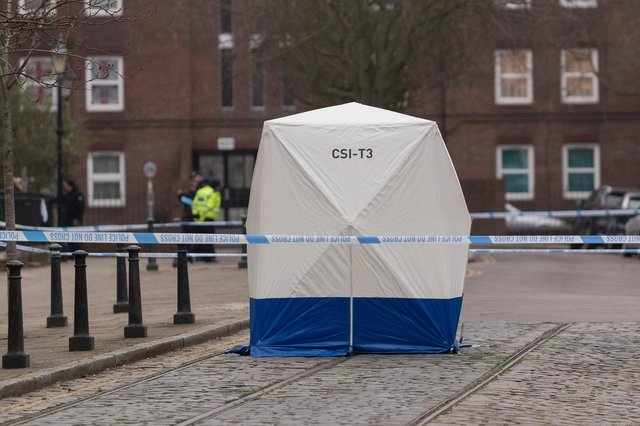 Police launched a major operation after a newborn baby was found dead in Old Commercial Road at the junction with Victoria Street in Buckland on Saturday, January 25 in 2020 at 6.18am. Picture: Keith Woodland (250120-22)
