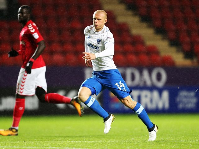 Curtis Main scored six goals in 22 appearances for Pompey after signed by Paul Cook in the summer of 2016. Picture: Joe Pepler