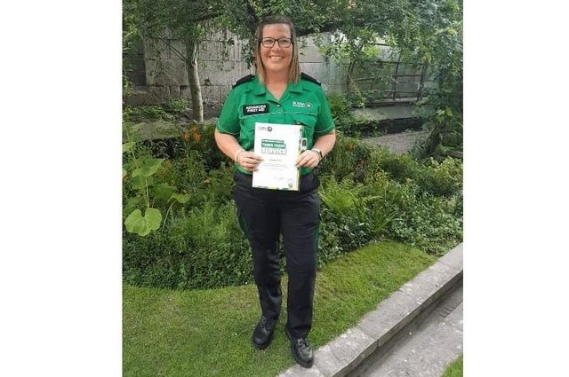 Guinness employee, and St John Ambulance volunteer, Kat Fell, who has helped more than 100 people join the NHS Covid-19 vaccination programme