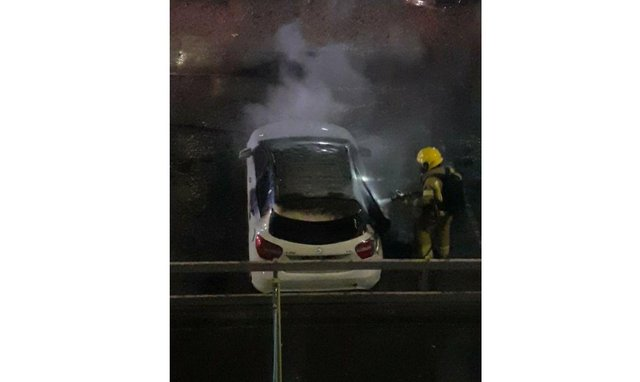Firefighters were called to deal with a car fire in Buckland last night.