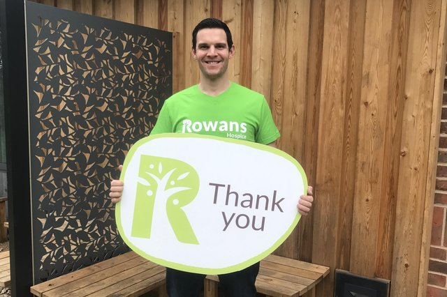 Great British Bake Off finalist Dave Friday will judge the Rowans' Great BIG Bake Off to raise funds for the hospice