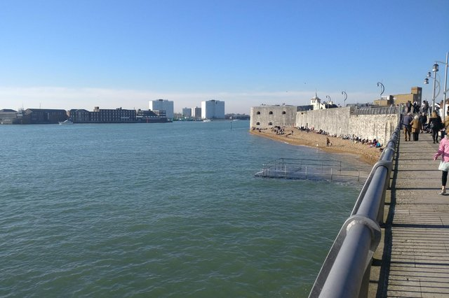 A sunny day in Portsmouth.