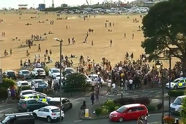 Police attended a disturbance on Southsea Common on June 23 2020 where a 17-year-old boy was arrested. Picture: Gethin Jones