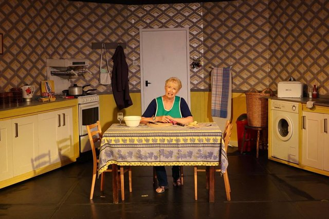Sheila Elsdon as Shirley Valentine by The Portsmouth Players at The Barn, September 2021