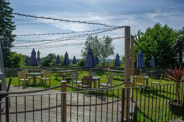 The Hampshire Hog in Clanfield, Waterlooville has a spacious beer garden. Picture: Habibur Rahman