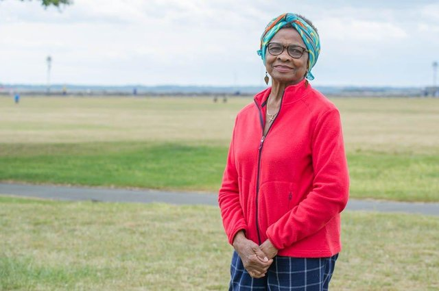 Chairwoman of the African Women's Forum Marie Costa at Southsea on 4 June 2020  Picture: Habibur Rahman