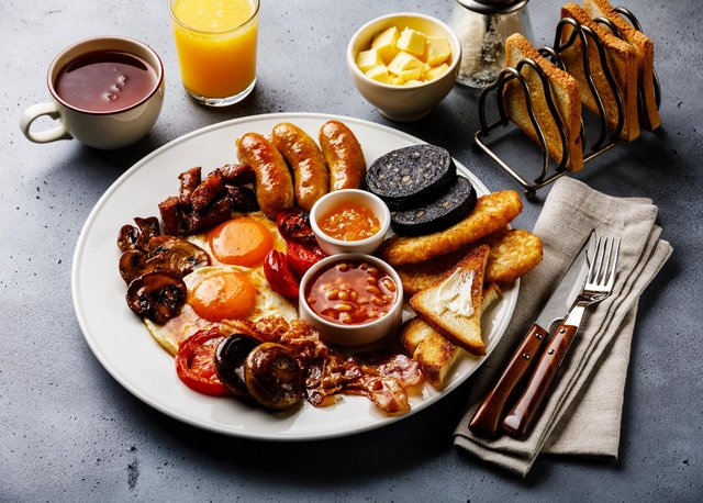 A full fry-up English breakfast. Picture by Shutterstock