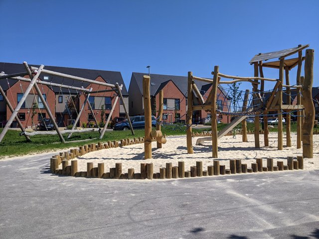 The playpark at Fred Francis Close. Picture: Emily Turner