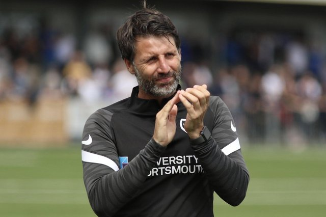 Pompey head coach Danny Cowley. Picture: Kieron Louloudis