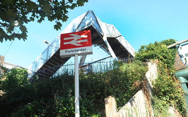 Portchester train station in Hill Road, Portchester. Picture: Sarah Standing (280920-4688)