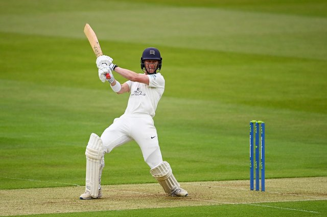 Nick Gubbins struck his first century for Hampshire in only his second innings for the county at Cheltenham. Photo by Alex Davidson/Getty Images.
