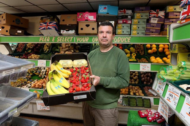 Andrew Price, owner of Wellington Way Greengrocers is pictured in his shop and is speaking out about problems with the street and the amount of closed shops. Picture: Sam Stephenson