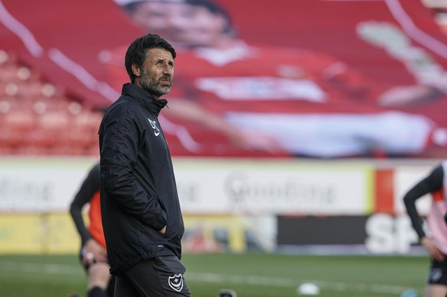 Head coach Danny Cowley watches as Pompey slip to an embarrassing defeat to a Swindon side previously bottom of League One. Picture: Jason Brown/ProSportsImages