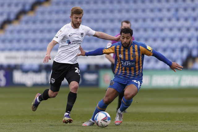 Pompey rose to fifth after victory at Shrewsbury. In their last 10 games, they play six of the bottom seven. Picture: Daniel Chesterton/phcimages.com