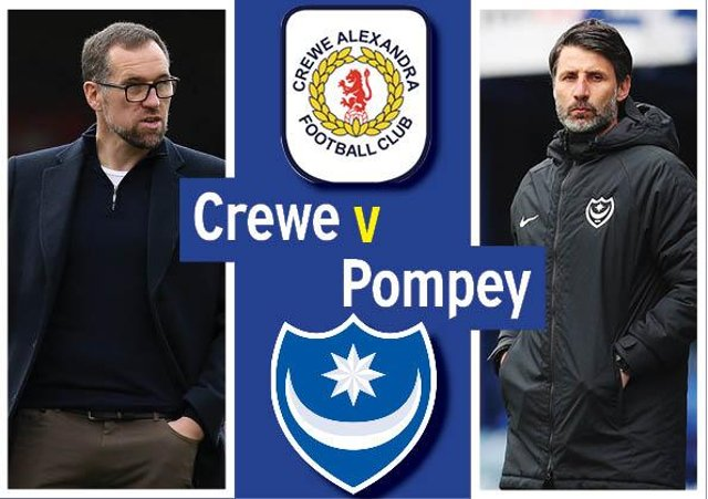Pompey head to Crewe tonight in League One