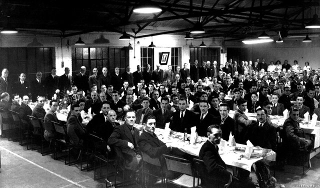 Here we see employees of  White and Newton furniture factory in Dunbar Road, Eastney at their Christmas dinner in 1948. Sent in by Tom Langford of Hambledon near Waterlooville, he is in the second row sixth from the right.