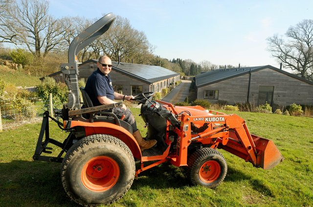 Peter Foster, maintenance manager at Wallops Wood Holiday Cottages.  Picture: Sarah Standing (090321-4696)
