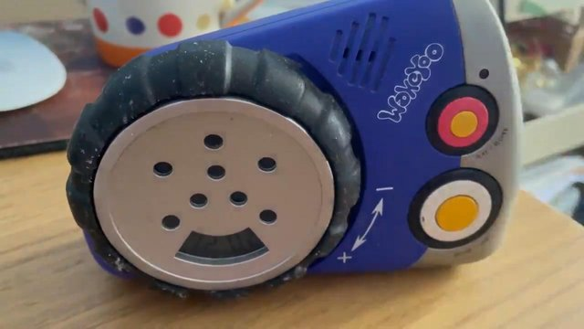 Ed Morrish's 23-year-old WakeYoo alarm clock which still contains a voice recording from his late mother Christine Picture: Ed Morrish/PA Wire