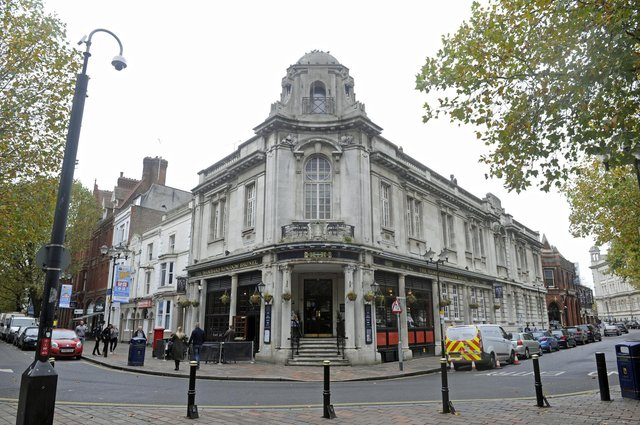 Isambard Kingdom Brunel public house in Guiildhall Walk. Picture Ian Hargreaves  (171243-1)