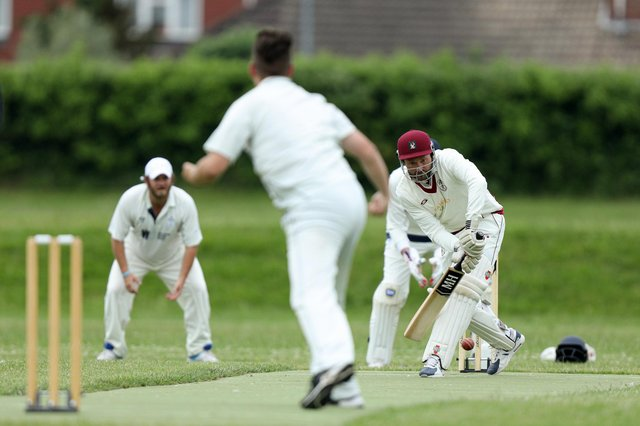 Steve Perkins was among the top order Clanfield batsmen out for a duck in their collapse against Kerala 3rds. Picture: Chris Moorhouse
