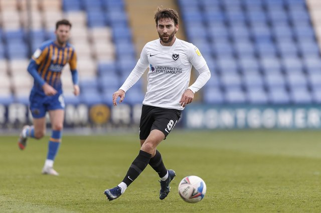 Ben Close was Ryan Fisher's man of the match in Saturday's win at Shrewsbury. Picture: Daniel Chesterton/phcimages.com
