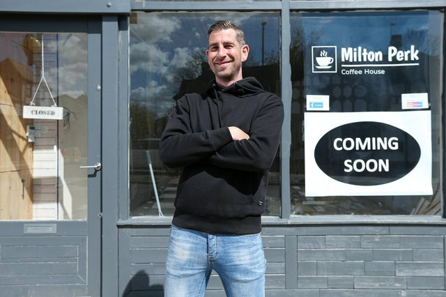 Shaun Carter plans to open Milton Perk Coffee House on the corner of Meon Rd and Milton Rd, in early JunePicture: Chris Moorhouse (jpns 040521-17)
