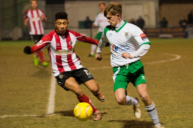 Former Bognor Regis regular Doug Tuck, right, will be playing for Horsham in next week's FA Cup second qualifying round tie against Hawks