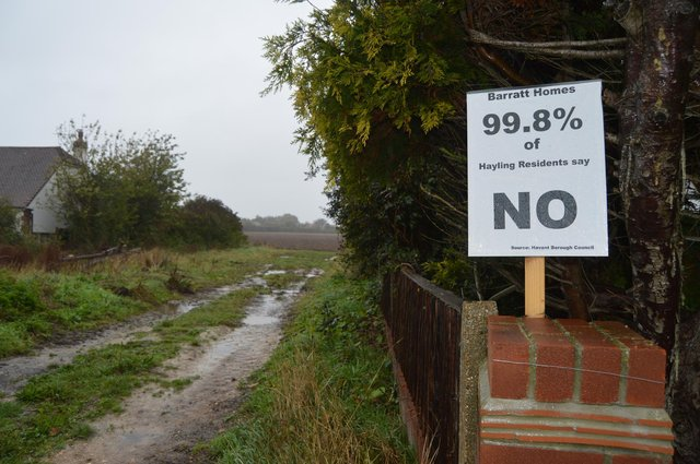 Residents are vehemently against proposals for 195 new homes off Sinah Lane, Hayling Island. Picture: David George