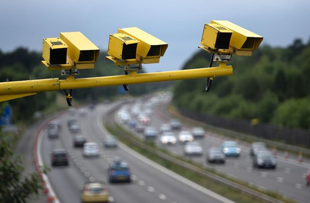 File photo of average speed cameras in position on the M3.