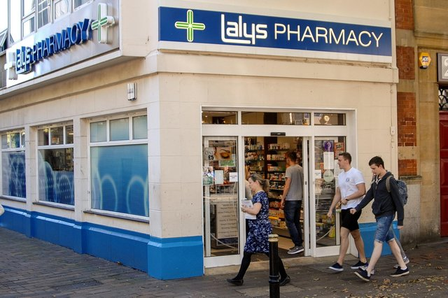 Lalys Pharmacy in Guildhall Walk is among the community chemists to have been shortlisted as part of the first high street stores to offer the coronavirus vaccine to the public.