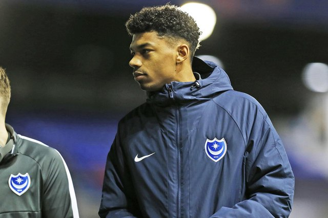 Reeco Hackett-Fairchild has featured for just 63 minutes during 18 months at Fratton Park. Picture: Kieran Cleeves/ProSportsImages