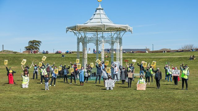 #KilltheBill protest on Southsea Common on April 17. Picture by Mike Cooter.