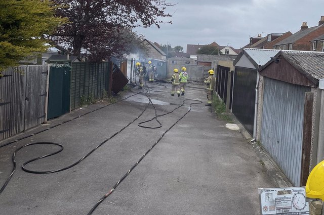 Fire crews at Paulsgrove earlier today. Picture: Portchester Fire Station twitter